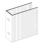 П-Кронштейн фасадный несущий ПКН1-150 для Навесных вентилируемых фасадов