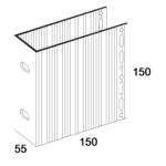 П-Кронштейн фасадный несущий ПКН1-150 для Навесных вентилируемых фасадов (рисунок с размерами)