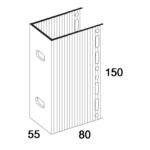 П-Кронштейн фасадный несущий ПКН1-80 для Навесных вентилируемых фасадов (рисунок с размерами)