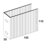П-Кронштейн фасадный несущий ПКН2-150 для Навесных вентилируемых фасадов (рисунок с размерами)