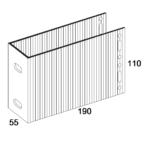 П-Кронштейн фасадный несущий ПКН2-190 для Навесных вентилируемых фасадов (рисунок с размерами)