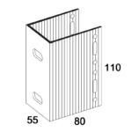 П-Кронштейн фасадный несущий ПКН2-80 для Навесных вентилируемых фасадов (рисунок с размерами)