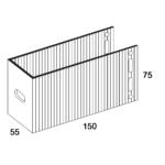 П-Кронштейн фасадный опорный ПКО1-150 для Навесных вентилируемых фасадов (рисунок с размерами)
