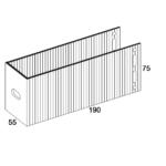 П-Кронштейн фасадный опорный ПКО1-190 для Навесных вентилируемых фасадов (рисунок с размерами)
