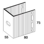 П-Кронштейн фасадный опорный ПКО1-80 для Навесных вентилируемых фасадов (рисунок с размерами)
