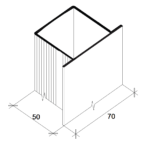 П-профиль алюминиевый фасадный 70*50