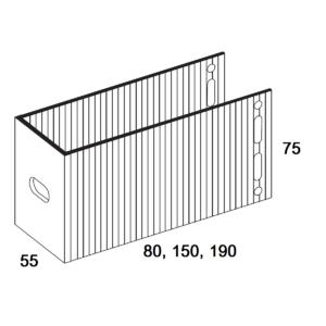 П-Кронштейн фасадный опорный ПКО-все размеры для Навесных вентилируемых фасадов