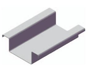 Профиль вертикальный межэтажный МП 100*50 3 метра